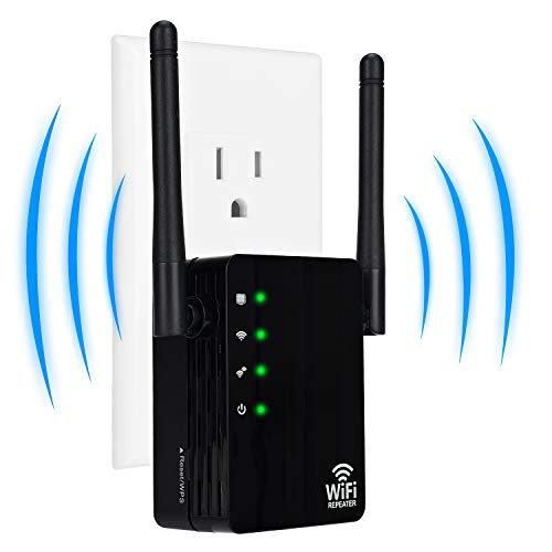WiFi Range Extender, 300Mbps WiFi Repeater, 2.4GHz Wireless Signal Booster with Ethernet Port and 2 Antenna