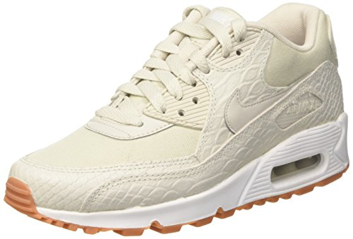Nike Damen WMNS Max 90 PRM Trainer, Beige (Light Bone/Gum Yellow/White), 37.5 EU