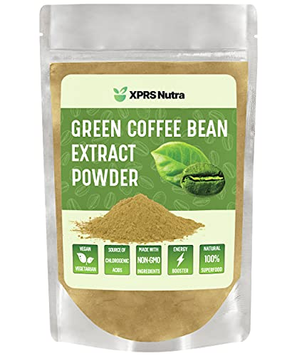 XPRS Nutra Green Coffee Bean Extract Powder - Chlorogenic Acid Containing Green Coffee Beans for Weight Management and Energy Boosting Support - Vegan Friendly Green Coffee Bean Powder (4 oz)