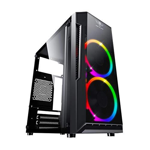 Spirit Of Gamer - DEATHMATCH 3 - Case PC Gamer Matx/ITX Case - 2 Ventilatori LED RGB Indirizzabili da 120mm - Pannello Frontale E Laterale in Acrilico per Ufficio - ASUS Aura/MSI Mystic/ASROCK 3Pin