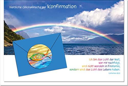 metALUm Karte zur Konfirmation REGENBOGEN | 1012005S