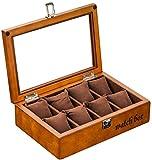 LILAODA Vintage Watch Box Uhr Aufbewahrungsbox 8 Slot Ideal für Thanksgiving-Geschenke Perfect