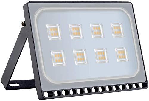 Viugreum 50W LED Foco Exterior de alto brillo, Led Floodlight 5000LM 3200K(Blanco Cálido),LED Focos Iluminación de, Iluminación de Exterior para Patios, Caminos, Escaleras, Fábricas,Jardines.