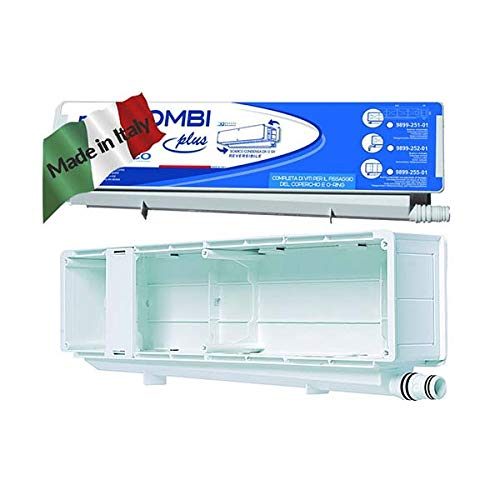 vecamco Clima Plus–Scarico condensazione Mini orizzontale 430x 103x 68Bianco