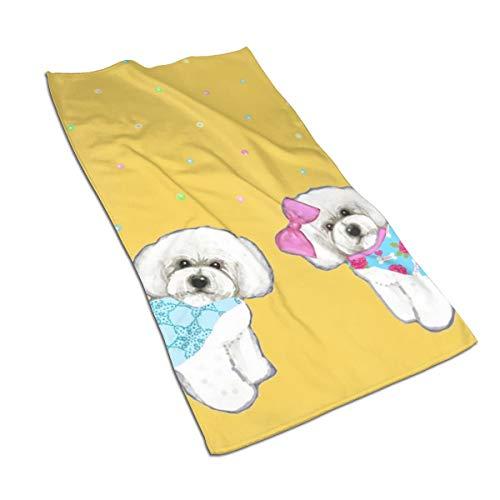 Jacklee Bichon Frise Holiday Toalla Playa 100% algodón, Tacto Muy Suave, Ideal...