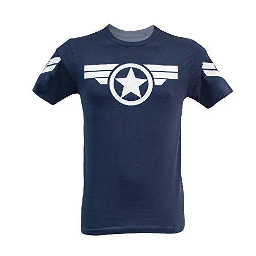 Camiseta para hombre Capitán América Uniforme Marvel – Steve Rogers Super Soldier