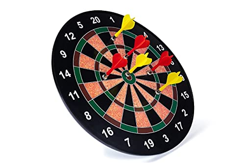 FlexZone Magnetic Score Dartboard Kit -- Safety Dartboard with 6 Soft Darts,Family Indoor&Outdoor Fun Games, Birthday Gifts for Children/Adults 17 inch