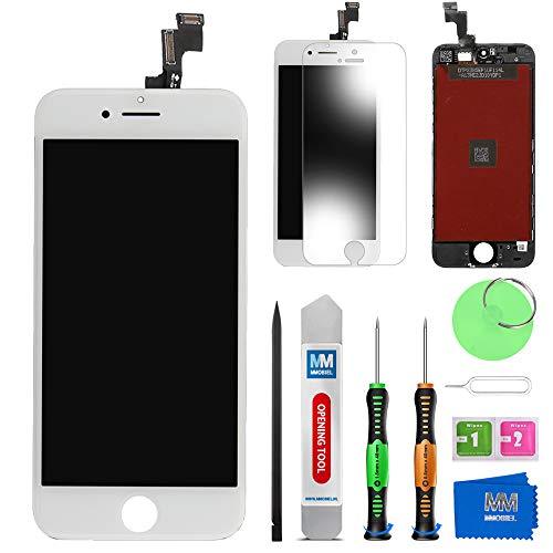 MMOBIEL Schermo tattile LCD Compatibile con iPhone 5S (Bianco) Kit assemblaggio Riparazione Professionale con Manuale Semplice