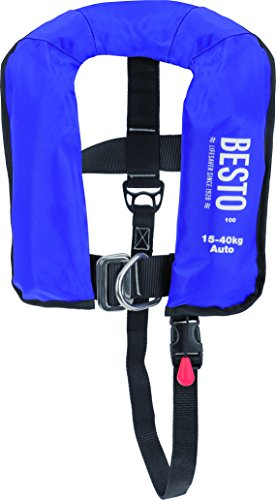 Besto Automatisch reddingsvest Junior 100N 15-40 kg met Lifebelt Life Jacket volautomatisch kinder-automaat vest I Boottstteile Brauer®