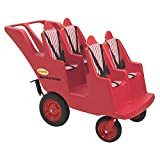 Product Image of the Angeles 4 Passenger Bye-Bye Bus, Red Daycare Multi-Passenger Buggy, 4 Seat Kids...
