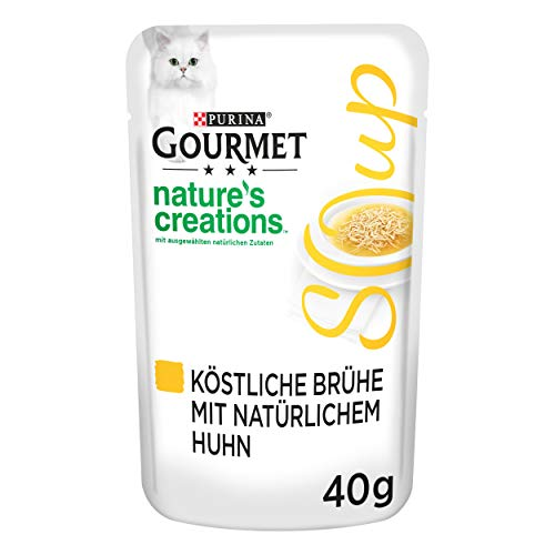 PURINA GOURMET Crystal Soup für Katzen mit naturbelassenem Huhn, 32er Pack (32 x 40g)