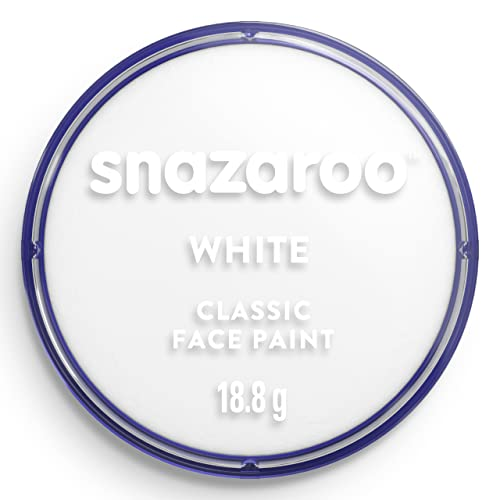 Snazaroo Classic Face and Body Paint, 18ml, White, 0.66 Oz