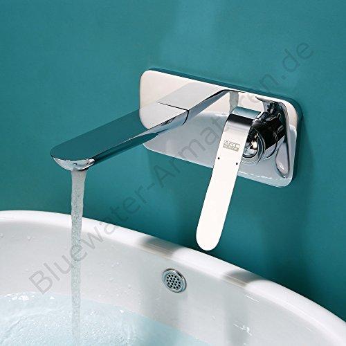 Art Platino EMIRA Rubinetto da parete cromato BPU.110C, rubinetto di design, da parete, rubinetteria bagno, miscelatore monoleva, miscelatore, rubinetto