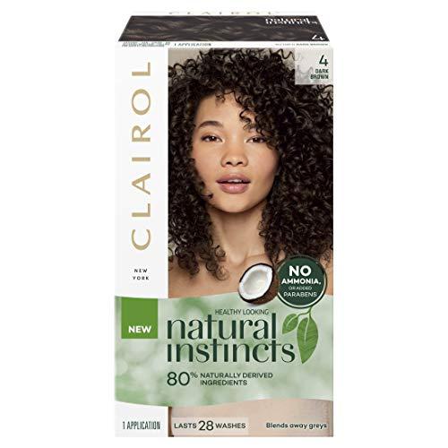Clairol Natural Instincts Semi-Permanant Hair Colour, 4 Dark Brown, 1 count