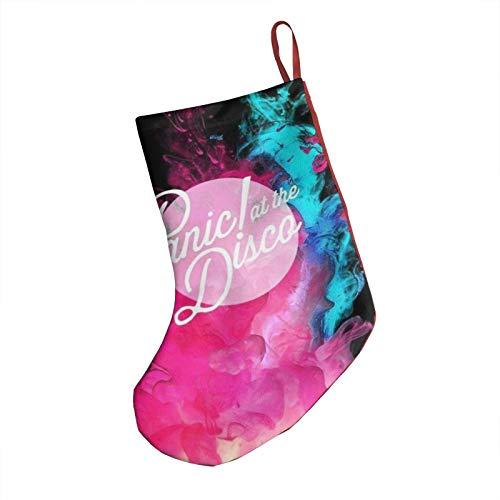 Yvette Cissie Pa_Nic! A_T Th_E Di_SCO Christmas Ornament Socks 3D Printing Soft Plush Cloth Hanging Christmas Stocking