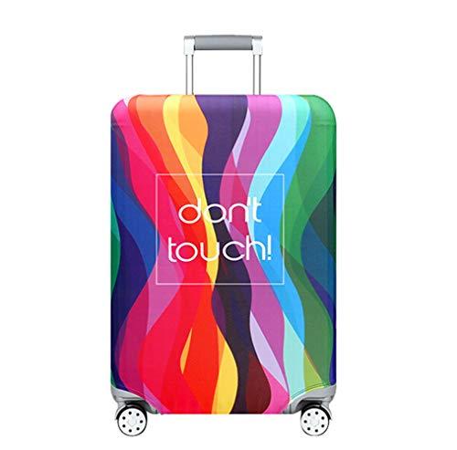 OuLi Store® Cubierta de equipaje Funda de maleta 18-32 pulgadas de fibra de carbón de bambú cubierta de equipaje Poliéster equipaje de viaje protectora (Color 9, S- (equipaje de 18-21 pulgadas))