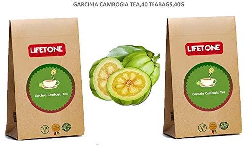 LIFETONE 20 días té de desintoxicación para bajar de peso | Bebida de dieta y pérdida de grasa | 40 bolsitas de té | Mezcla de suplementos herbales naturales con Garcinia Cambogia | Té adelgazante
