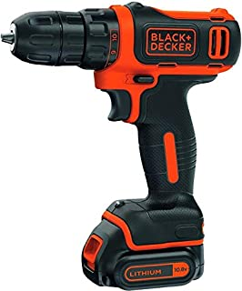 Black+Decker 10.8V 1.5Ah Li-Ion Cordless Ultra Compact 11 Clutch Drill Driver, Orange/Black - BDCDD12-B5, 2 Years Warranty