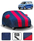 Fabtec Car Body Cover for Maruti Wagon R (2019-2021) with Mirror Pocket (Red & Blue)