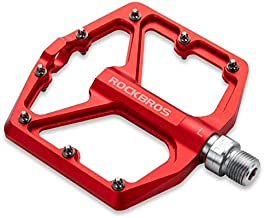 ROCKBROS Mountain Bike Pedals MTB Pedals Bicycle Flat Pedals Aluminum 9/16