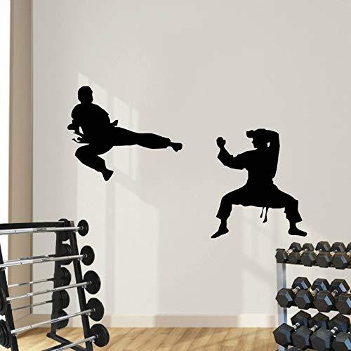 mlpnko Wandaufkleber Chinesische Kung Fu Dekoration Malerei Studio Black Belt Wandbild Abnehmbarer Aufkleber 42X66cm