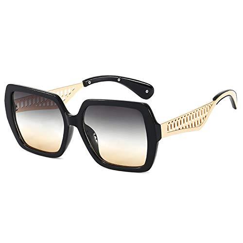 N\P Gafas de sol gafas de sol gafas de sol cuadradas de montura grande femenina