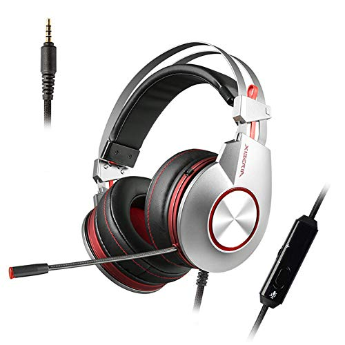 con Luces LED, micrófono Plegable de Alto Rendimiento con Control de Volumen del micrófono para Xbox 1 S Playstation 4 Laptop, PC, Mac, iPad-2