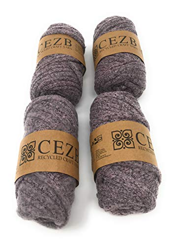 T-Shirt Yarn (4 Pack) Bulky Fettuccini Zpagetti Style Elastic Strong Cloth T Shirt Yarn for Knitting Sewing Crocheting Bags Bowls DIY Handicraft and Home décor Projects Yarn#379