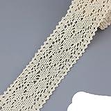 (5 metros / rollo) Blanco Beige Algodón Bordado Encaje Red Cintas Tela Recorte DIY Costura Materiales artesanales hechos a mano-1