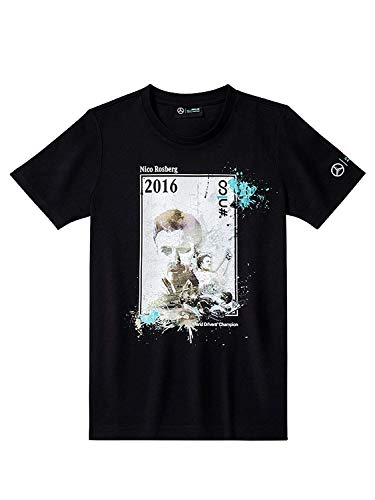 Unbekannt Mercedes AMG Petronas Formel 1 T-Shirt Top Hemd (Schwarz, XXL)