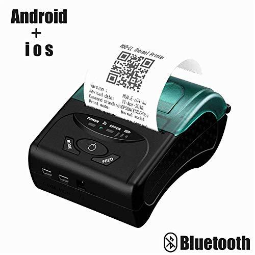 Bluetooth-Thermo-Drucker für Belege, 58 mm, kabellos, für PC, Android, iOS, mit wiederaufladbarem Akku, ESC-/POS-/Star-Print-Kommandos-Set