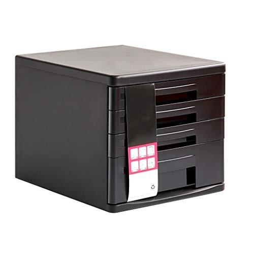 Ablagesystem für den Schreibtisch Bürobedarf Desktop-Aktenschrank Aktenregal 4-lagig Aktenschrank Schubladentyp (schwarz) Ordner-Ablagesysteme