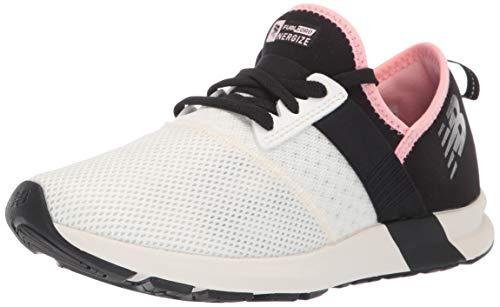 New Balance Women's FuelCore Nergize V1 Sneaker, Sea Salt/Black/Guava Glo, 6.5 M US