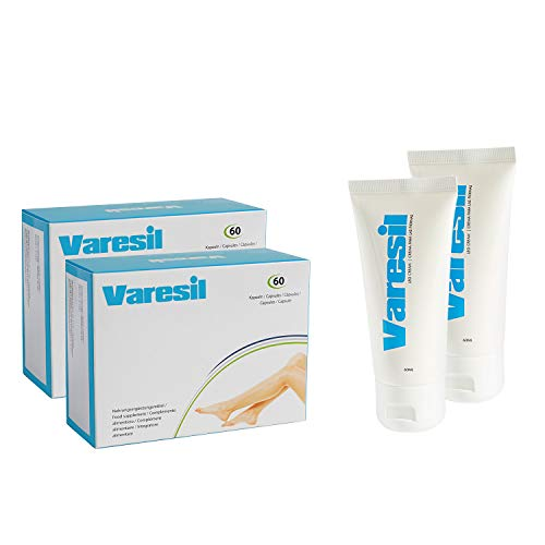 2 Varesil Pills + 2 Varesil Cream: Pastillas y Crema para prevenir y aliviar las varices
