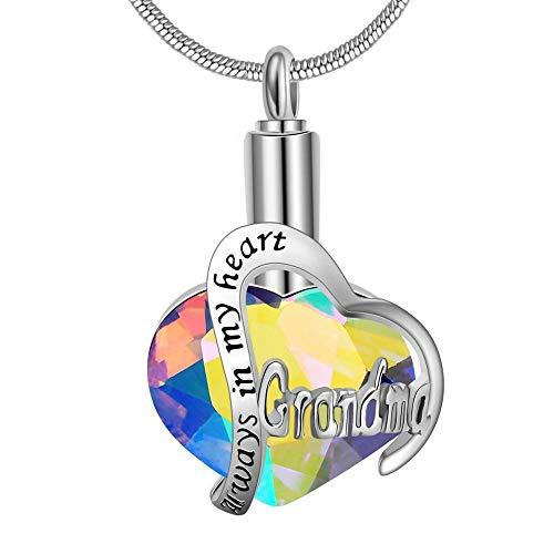 QFV Siempre en mi corazón, medallón de Mujer, corazón, cremación, Cenizas, urna, corazón, Collar, joyería, Recuerdo, Colgante