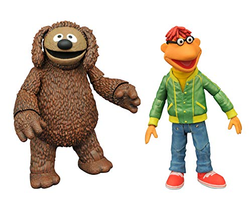 Diamond Select The Muppets Deluxe ROWLF And Scooter Actionfigur New!