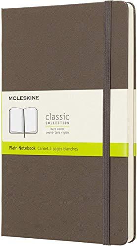 Moleskine notitieboek groot, A5, blanco, harde kaft, aardbruin