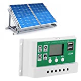 Zerodis Regulador Inteligente de Panel Solar, 50A 12V 24V...
