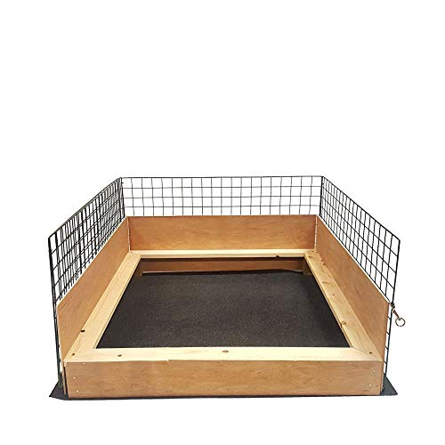 Flexipanel Puppy Play Pen 1m x 1m Complete With Wooden Whelping Box Insert