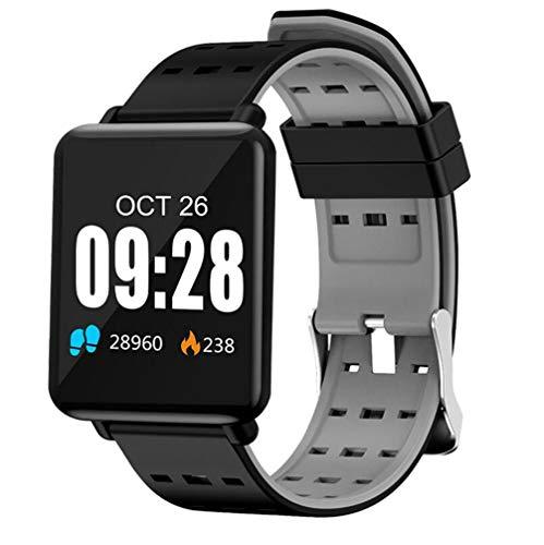 ZUZHEN Fitness Tracker, cardiofrequenzimetro con Tracker GPS collegato, Step Counter, Sleep Monitor, conTapassi Impermeabile IP67 per Smartphone Android e iOS,B