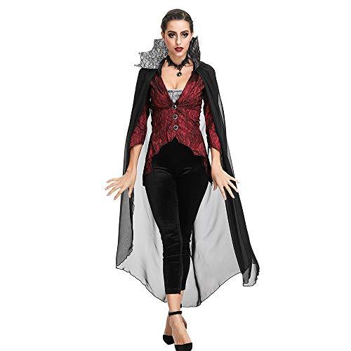 Xwenx Cosplay Outfits Vestido para Mujer Halloween Cosplay Disfraces Anime Cosplay Disfraces Conjunto, Vestido Medieval Disfraz de Halloween Bat Vampire Demon Cosplay Disfraz,XL