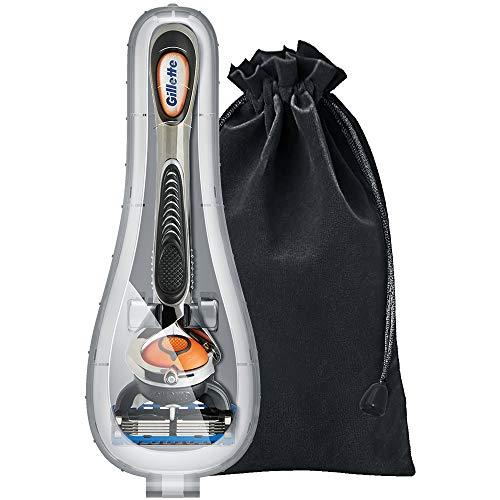 Rasierer Reiseetui für Gillette - Rasierer Reise Schutzhülle mit Weiche Aufbewahrungstasche für Gillette Fusion ProGlide SkinGuard Sensor Excel Men's Manuelles Rasierer von Anplus (Grau)