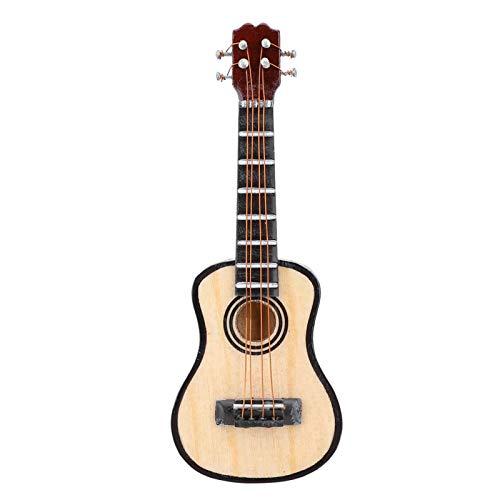 SALUTUYA Fina artesanía, Adorno de Guitarra, con Delicada Caja de Regalo, Modelo de Guitarra, Tilo, Apariencia Real, para Oficina