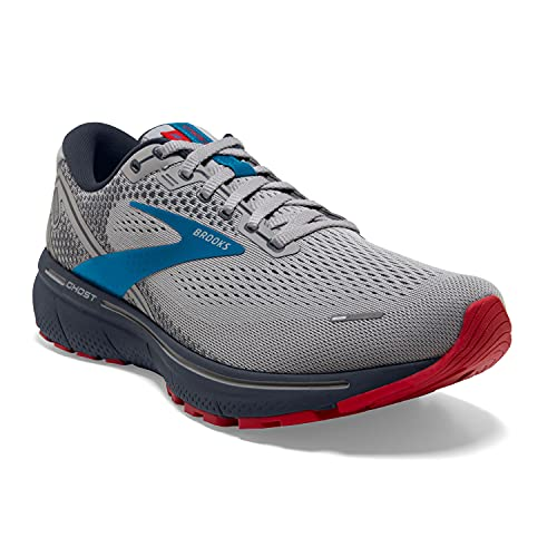Brooks Ghost 14 Grey/Blue/Red 10 D (M)