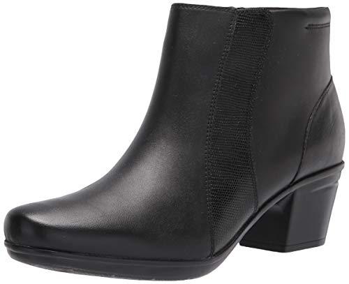Clarks Women's Emslie Newport Ankle Boot, Black, 8.5 Wide