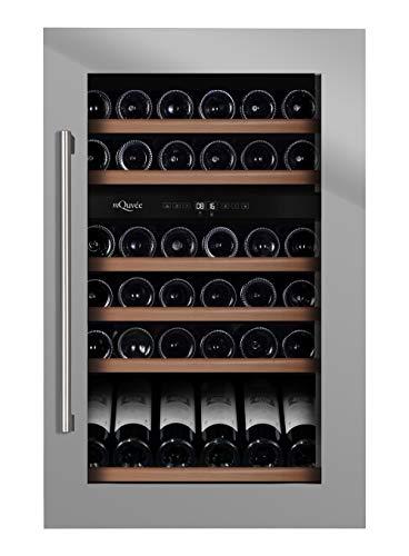 mQuvee Weinkühkschrank Einbau WineMaster 59D Stainless, Platz für bis zu 57 Flaschen, 2 Temperaturzonen 5-20°C, Breite 59 cm, Tiefe 56 cm, Höhe 88 cm