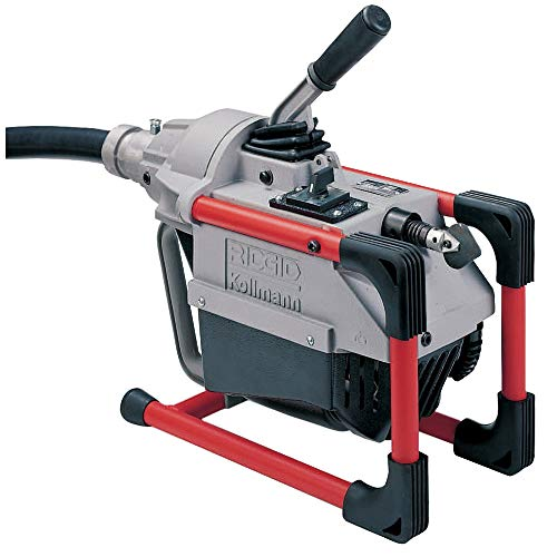 RIDGID 66492 K-60SP Sectional Machine, Compact Sectional Drain Cleaning Machine with Easy Snake Cable Changes, Drain Cleaner Machine (Sectional Cable Sold Separately),Gray, Black, Red,12 x 12 x 12