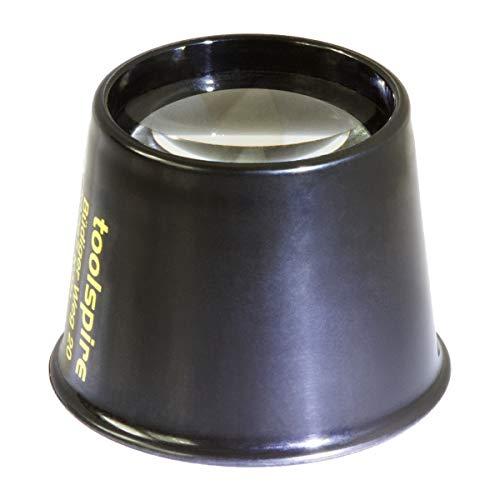 toolspire Feinmechanikerlupe Lp-8x, 8-fache Vergrösserung, besonders lichtstarke 29mm-Linse, hohe Tiefenschärfe