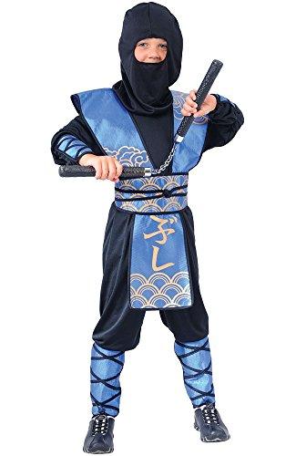 Disfraz Infantil de Ninja (Talla L, 8-10 Años)