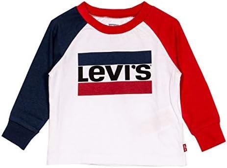 Levi's Camiseta de Blanca Manga Larga para Niños - NP10064